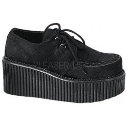 Black Suede Woven Womens Creeper ShoeOodles Shoes for Women, Men and Children  Oodles of Shoes for Men, Women & Children