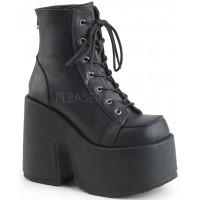 Black Matte Chunky Platform Ankle Boots