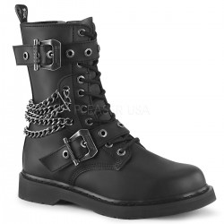 Chained Bolt Mens Combat Mid-Calf Boot ShoeOodles Shoes for Women, Men and Children  Oodles of Shoes for Men, Women & Children