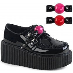 Ball Gag Black Vegan Womens Creeper ShoeOodles Shoes for Women, Men and Children  Oodles of Shoes for Men, Women & Children