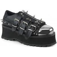 Gravedigger Mens Spiked Platform Oxford Shoe