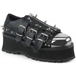 Gravedigger Mens Spiked Platform Oxford Shoe ShoeOodles Shoes for Women, Men and Children  Oodles of Shoes for Men, Women & Children