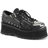 Gravedigger Mens Lightning Zipped Platform Oxford Shoe