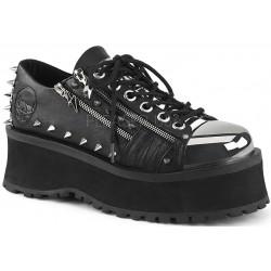 Gravedigger Mens Lightning Zipped Platform Oxford Shoe ShoeOodles Shoes for Women, Men and Children  Oodles of Shoes for Men, Women & Children
