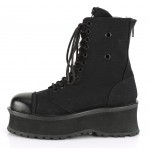 Gravedigger Mens Black Canvas Ankle Boots at ShoeOodles Shoes for Women, Men and Children,  Oodles of Shoes for Men, Women & Children