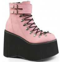Kera Pink Platform Ankle Boots