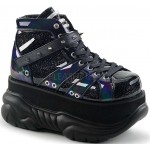 Neptune Black Holographic Mens Shoes at ShoeOodles Shoes for Women, Men and Children,  Oodles of Shoes for Men, Women & Children