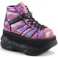 Neptune Pink Holographic Mens Shoes