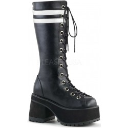 Ranger Mens Combat Boot with White Stripes ShoeOodles Shoes for Women, Men and Children  Oodles of Shoes for Men, Women & Children