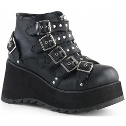 Scene Buckled Black Ankle Boots ShoeOodles Shoes for Women, Men and Children  Oodles of Shoes for Men, Women & Children