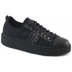 Black Studded Gothic Low Top Sneaker ShoeOodles Shoes for Women, Men and Children  Oodles of Shoes for Men, Women & Children