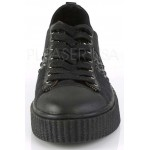 Black Studded Gothic Low Top Sneaker at ShoeOodles Shoes for Women, Men and Children,  Oodles of Shoes for Men, Women & Children