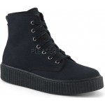 Demonia Black Canvas High Top Sneaker at ShoeOodles Shoes for Women, Men and Children,  Oodles of Shoes for Men, Women & Children