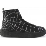 Spiderweb Black Canvas High Top Sneaker at ShoeOodles Shoes for Women, Men and Children,  Oodles of Shoes for Men, Women & Children