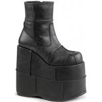 Stack Mens Platform Patched Ankle Boot