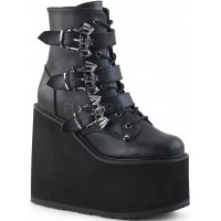 Bat Buckled Swing 103 Wedge Platform Ankle Boot
