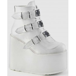 White Swing 105 Platform Wedge Ankle Boot ShoeOodles Shoes for Women, Men and Children  Oodles of Shoes for Men, Women & Children