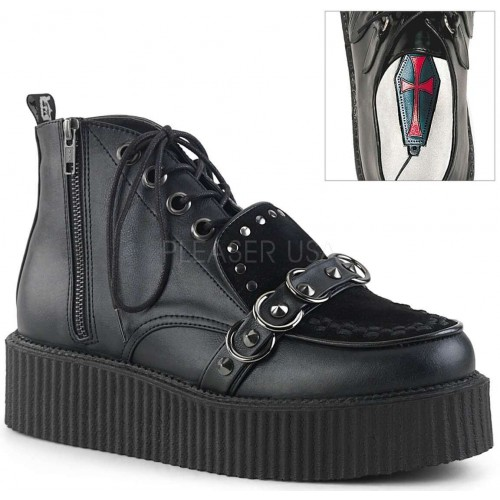High Top Creeper-555 Platform Oxford by Demonia at ShoeOodles Shoes for Women, Men and Children,  Oodles of Shoes for Men, Women & Children