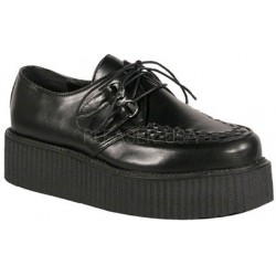 Black Faux Leather Mens Basic Creeper Loafer ShoeOodles Shoes for Women, Men and Children  Oodles of Shoes for Men, Women & Children