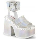 Camel White Hologram Platform Sandals at ShoeOodles Shoes for Women, Men and Children,  Oodles of Shoes for Men, Women & Children