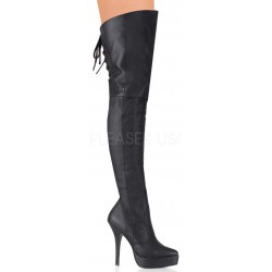 Indulge Leather Thigh High Platform Boot ShoeOodles Shoes for Women, Men and Children  Oodles of Shoes for Men, Women & Children