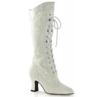 Rebecca Victorian White Lace Boot