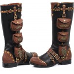 Silas Multi Pocket Steampunk Womens Boots at ShoeOodles Shoes for Women, Men and Children,  Oodles of Shoes for Men, Women & Children