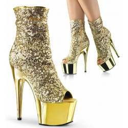 Gold Sequin Adore Platform Ankle Boots ShoeOodles Shoes for Women, Men and Children  Oodles of Shoes for Men, Women & Children