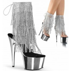 Silver Rhinestone Fringe Platform Ankle Boot ShoeOodles Shoes for Women, Men and Children  Oodles of Shoes for Men, Women & Children