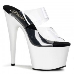 White Platform Adore High Heel Slides ShoeOodles Shoes for Women, Men and Children  Oodles of Shoes for Men, Women & Children