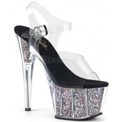 Confetti Filled Clear Platform Adore Sandals ShoeOodles Shoes for Women, Men and Children  Oodles of Shoes for Men, Women & Children