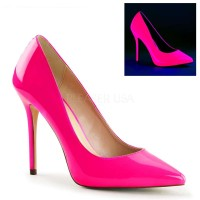 Amuse Neon Fuchsia 5 Inch High Heel Pump