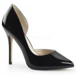 Amuse Black 5 Inch High Open Side Pump ShoeOodles Shoes for Women, Men and Children  Oodles of Shoes for Men, Women & Children