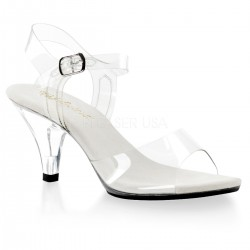 Belle Clear Peep Toe Sandal ShoeOodles Shoes for Women, Men and Children  Oodles of Shoes for Men, Women & Children