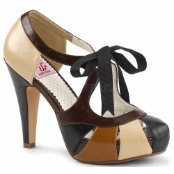 Bettie Brown High Heel Vintage Pump ShoeOodles Shoes for Women, Men and Children  Oodles of Shoes for Men, Women & Children