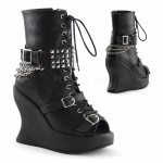 Peep Toe Bravo Spiked Wedge Boots at ShoeOodles Shoes for Women, Men and Children,  Oodles of Shoes for Men, Women & Children
