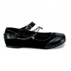 Skull Chain Buckle Mary Jane Flats ShoeOodles Shoes for Women, Men and Children  Oodles of Shoes for Men, Women & Children