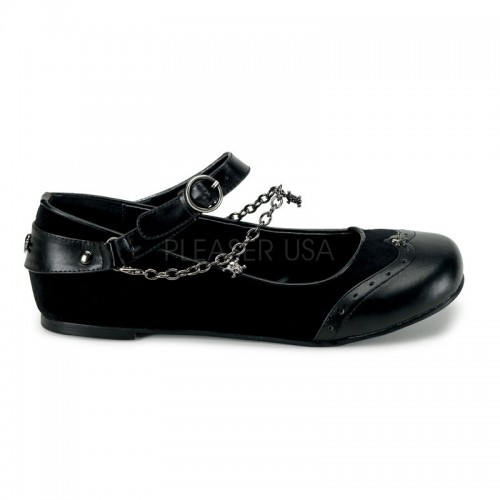 Skull Chain Buckle Mary Jane Flats at ShoeOodles Shoes for Women, Men and Children,  Oodles of Shoes for Men, Women & Children