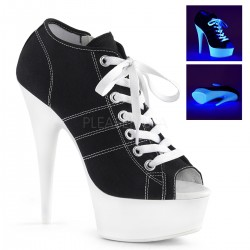 Black High Heel Peep Toe Sneaker ShoeOodles Shoes for Women, Men and Children  Oodles of Shoes for Men, Women & Children