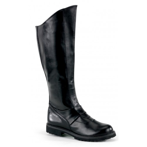 Gotham Knee High Plain Black Boots at ShoeOodles Shoes for Women, Men and Children,  Oodles of Shoes for Men, Women & Children