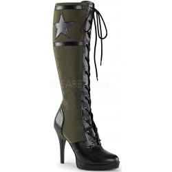 Arena Army Green Knee Boots for Women ShoeOodles Shoes for Women, Men and Children  Oodles of Shoes for Men, Women & Children