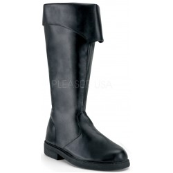 Captain Mid Calf Cuffed Black Boots ShoeOodles Shoes for Women, Men and Children  Oodles of Shoes for Men, Women & Children