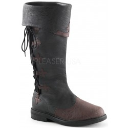 Distressed Black Rennaissance Costume Boots ShoeOodles Shoes for Women, Men and Children  Oodles of Shoes for Men, Women & Children