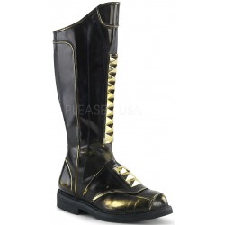 Captain Black Studded Cycle Boots ShoeOodles Shoes for Women, Men and Children  Oodles of Shoes for Men, Women & Children