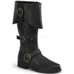Carribean Distressed Black Pirate Boots ShoeOodles Shoes for Women, Men and Children  Oodles of Shoes for Men, Women & Children