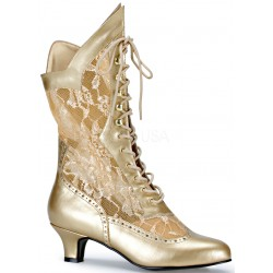 Victorian Dame Gold Lace Boot ShoeOodles Shoes for Women, Men and Children  Oodles of Shoes for Men, Women & Children