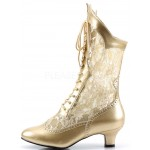 Victorian Dame Gold Lace Boot at ShoeOodles Shoes for Women, Men and Children,  Oodles of Shoes for Men, Women & Children