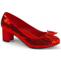 Dorothy Red Sequin 2 Inch Heel Pump ShoeOodles Shoes for Women, Men and Children  Oodles of Shoes for Men, Women & Children