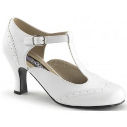 Flapper White T-Strap Pump ShoeOodles Shoes for Women, Men and Children  Oodles of Shoes for Men, Women & Children