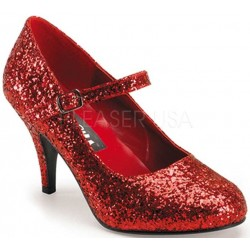 Glinda Red Glittered Mary Jane Pump ShoeOodles Shoes for Women, Men and Children  Oodles of Shoes for Men, Women & Children